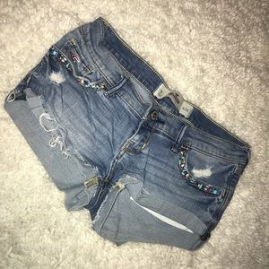 ✨Jean Shorts with Jeweled Detail!✨